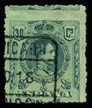 SPAIN Scott # 303 F-VF used MISFERF ERROR (5707963) - $4.95