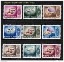 MALDIVES Scott # 172-86** VF MINT NH ( FF-12) - $39.55