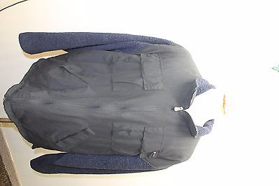 Timberland Men Jacket Zipper Large Hungary Black W Blue Fur Lining Winter