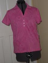 Caribbean Joe Knit Top Shirt Size L Pink Msrp: $34.00 Nwt - $16.98