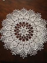 1 Crochet Doily  Handmadde Ecru Color 13 Inch D... - $19.99