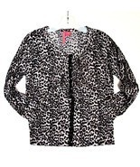 Anthropologie Charlotte Tarantola Leopard Print Cardigan Sweater L Large... - $34.55