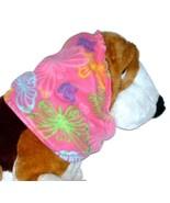 Pink Multicolor Butterflies Fleece Dog Snood by Howlin Hounds Size XL - $13.50