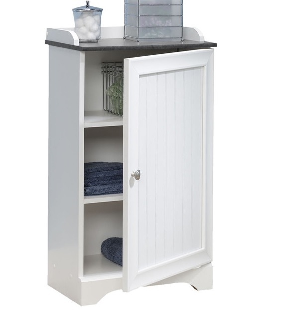 Bathroom Storage Cabinet White Toilet Organizer Shelf Shelves Bath Towel Rack