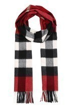 BURBERRY Woman's Men's Red Mega Check 100% Cashmere Scarf - €390,94 EUR