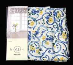 "Mervyn's JASMINE Blue Yellow Floral Scroll Balloon Valance 72"" x 15"" NIP... - $24.99"