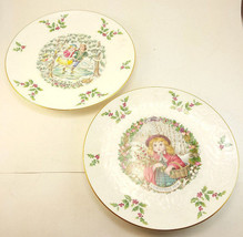 Set of 2 Royal Doulton Christmas Plates 1977 1978 1st & 2nd in Series Bo... - $23.96