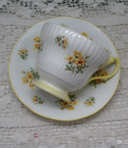 Vintage ROYAL DOVER Bone China Yellow Floral MOTHER Teacup with Saucer Set - $15.00