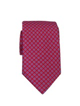 BRIONI Men's Bright Pink Polka Dot 100% Silk Skinny Neck Tie 3.2 Inches - $148.67