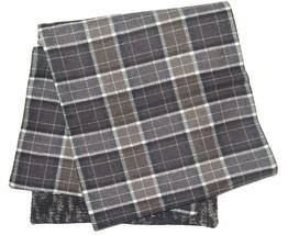 DOLCE & GABBANA Men's Brown Plaid Check 100% Wool Italian Made Scarf - £100.89 GBP