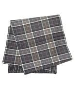 DOLCE & GABBANA Men's Brown Plaid Check 100% Wool Italian Made Scarf - $133.65