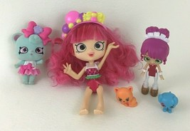 Shopkins Shoppies Lot of 6 Doll w Mini Figure Animals and Accessories MGA - $14.21