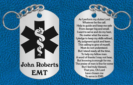 EMT or Paramedic Keychain Gift with Prayer ~ Personalized FREE ~ Graduat... - $14.95