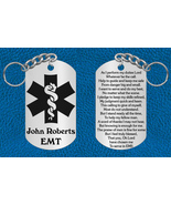 EMT or Paramedic Keychain Gift with Prayer ~ Personalized FREE ~ Graduation Gift - €13,79 EUR