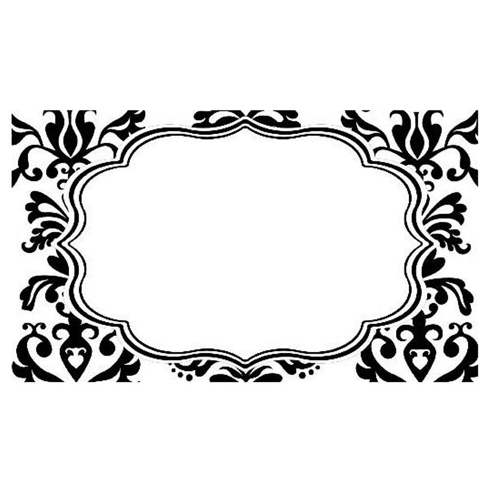 Place Cards - Lu Lu Damask Black and White (pack of 72) - $54.99