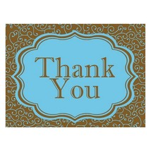 Thank You Cards - Olivia Blue and Brown (pack of 50) - $59.99