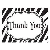 Thank You Cards - Zebra Black and White (pack of 50) - $59.99