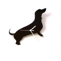 Dachshund dog - black acrylic wall clock, a piece of wall art, animal cl... - $39.00
