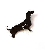 Dachshund dog - black acrylic wall clock, a pie... - $29.00