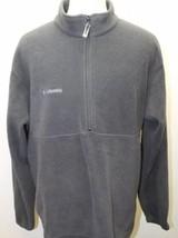 Columbia Men Fleece Jacket Dark Gray Zipper Large Winter Cold - $41.71