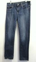 Womans' Dark Blue STRAIGHT Super Stretch Jeans ... - $11.99