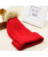 Red Acrylic Knit Warm Stocking Cap w/Pom Pom Free Shipping - $15.00