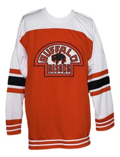 Buffalo bisons retro hockey jersey orange   1