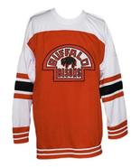Custom Name # Buffalo Bisons Retro Hockey Jersey New Orange Any Size - $54.99+