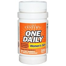21st Century, One Daily, Woman's 50+, Multivitamin Multimineral, 100 Tab... - $12.73