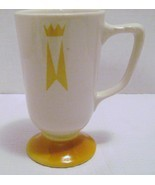 Homer Laughlin Pedestal Mug Marriott Hotel Crown Cup Footed VGC Coffee Tea - $12.00