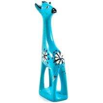 Tabaka Chigware Hand Carved Kisii Soapstone Light Blue Giraffe Figurine Kenya image 2