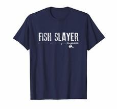 Funny Shirt - Funny Fishing Shirt Fish Slayer Father's Day Gift Men - $19.95+