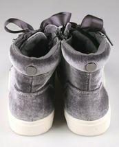 Brand New Women's Sara High Top Grey Velvet Sneakers Mossimo Supply Co image 4