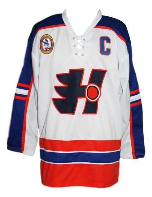 Ogilvey  7 custom halifax highlanders retro hockey jersey white   1