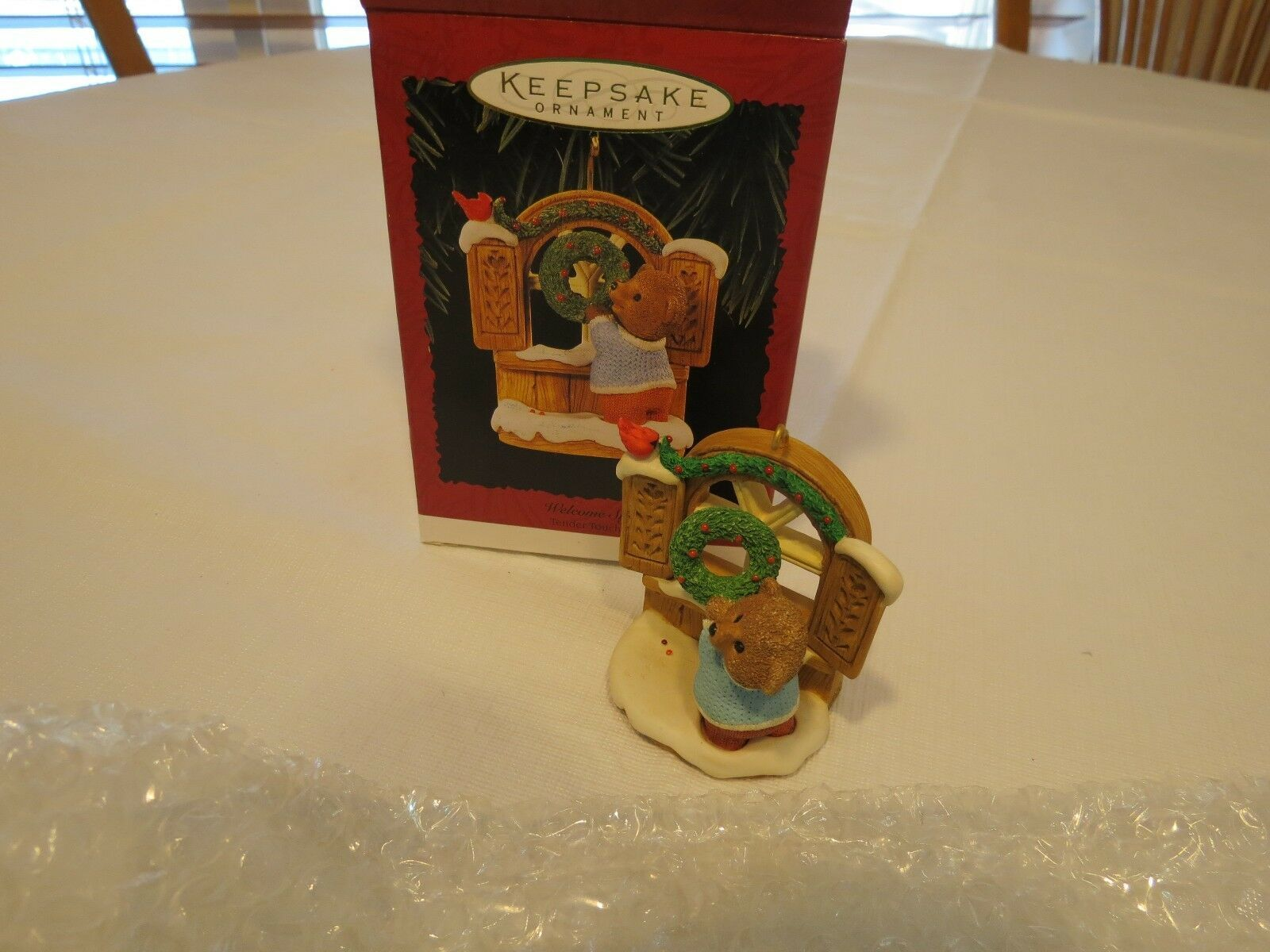 Hallmark Welcome Sign Tender Touches 1996 Ornament Christmas Keepsake RARE NOS