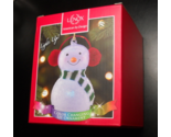 Christmas Ornament Lenox Wonder Ball Snowman Red Knit Muffs Lit Ornament Boxed