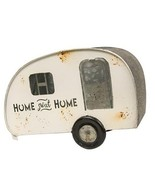 Galvanized Metal Ivory Camper Floral Planter Rustic home decor Gifts - $59.39