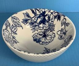 "NEW Cordon Bleu BIA Cereal / Soup Porcelain 6.25"" POPPY Bowl Blue & White - $12.22"