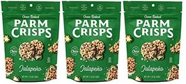 ParmCrisps Jalapeno 100% Cheese Crisps - Keto Friendly, Gluten Free, 1.75 Ounce