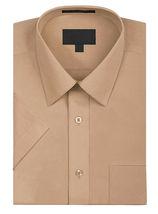 Men's Solid Color Regular Fit Button Up Premium Short Sleeve Dress Shirt image 6