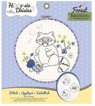 """Racoon Hoop-sie Daisies Embroidery Kit-8.5"""" Round - $11.09"""
