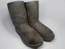 UGG Australia Classic Short Sheepskin Gray Boots Size 9 M (B) EU 40 Model 5825