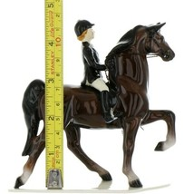 Hagen Renaker Specialty Horse Dressage with Rider Ceramic Figurine image 2