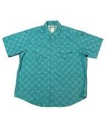 Wrangler Wrancher Short Sleeve Pearl Snap Blue Paisley Western Shirt Men... - $24.74