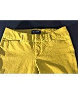 Women's Pants Mustard Yellow Size 2 Jeans Old Navy Pixie Mid Rise Cotton - $14.84