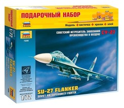 1/72 Russian SU-27 Flanker Air Superiority Fighter Aircraft Model Zvezda 7206 - $29.40