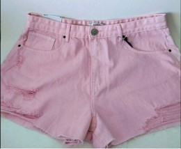 Forever 21 Distressed Pink Denim Shorts - $14.85