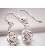 Globe on Chain Earrings 925 Sterling Silver Dangle Corona Sun Jewelry - $9.89