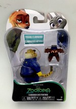 Tomy Disney Zootopia Clawhauser and Bat Eyewitness 4 inch Figure New - $16.99