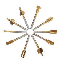 10Pcs 3mm HSS Router Bit Set 3mm Shank Burr Rotary File Wood Milling Cutter Tool - $9.99